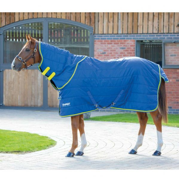 Shires Tempest Original 100 Stable Rug & Neck Set Blue/Lime Green